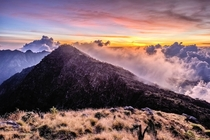 Sunset at Mt Bawakaraeng South Sulawesi Indonesia