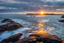 Sunset at Ogna Norway by Richard Larssen