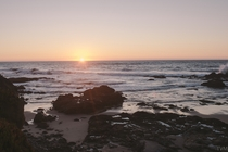 Sunset at Pescadero Beach