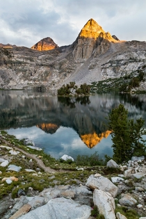 Sunset at Rae Lakes Kings Canyon National Park