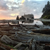 Sunset at Ruby Beach WA