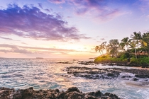 Sunset at Secret Beach Maui - By Thomas Bullock