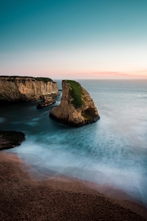 Sunset at Shark Fin Cove Davenport CA