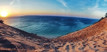Sunset at Sleeping Bear Dunes - Empire Michigan
