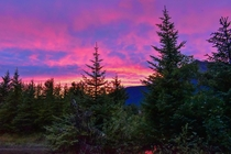 Sunset at Steep Creek Mendenhall Glacier Juneau Alaska