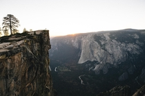 Sunset at Taft Point Yosemite
