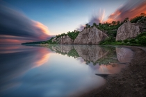 Sunset at the Bluffs II - Scarborough Ontario Canada by Brian Krouskie