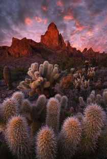 Sunset at the Kofa Mountains Arizona