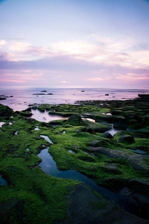 Sunset at the Tide Pools on La Jolla Beach California