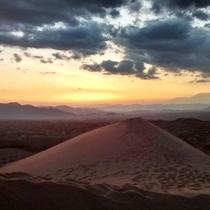 Sunset at the top of the Kelso Dunes - Mojave Desert