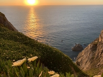 Sunset at the Westernmost point in mainland Europe - Cabo da Roca  OC