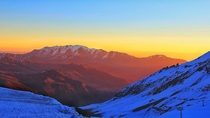 Sunset at Valle Nevado Chile