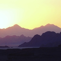 Sunset at Wadi Rum Jordan  OC