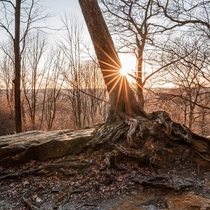 Sunset at Whipps Ledges Ohio