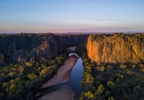 Sunset at Windjana Gorge Western Australia