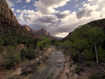 Sunset at Zion valley