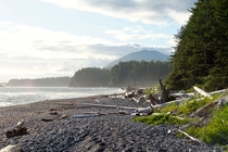 Sunset Beach - Nootka Island BC Canada We had this place all to ourselves  OC