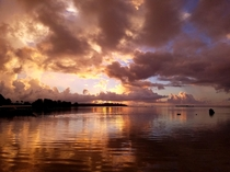 Sunset before a storm in Moorea French Polynesia