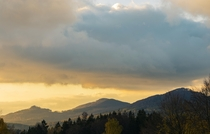 Sunset bringing a cloudy day to a gorgeous end - Lusatian Mountains