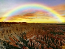 Sunset  Bryce Point Bryce National Park Utah