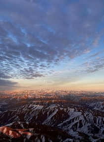 Sunset flight over the Sawtooth mountains Idaho