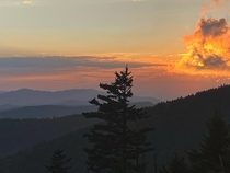 Sunset from Clingmans Dome Aug