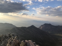Sunset from Emory Peak in Big Bend National Park