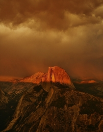 Sunset from Glacier Point - Yosemite National Park CA