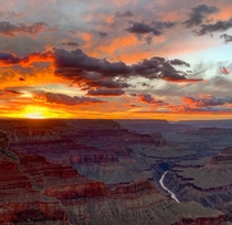 Sunset from Mojave Point Grand Canyon