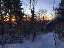 Sunset from Mont Tremblant Qubec Canada