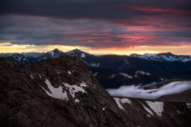 Sunset from Mount Evans in Colorado