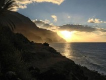 Sunset from the cliffs in Kalalau HI OC