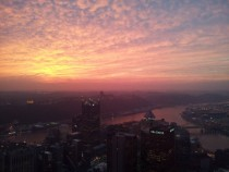 Sunset from the tallest building in Pittsburgh PA