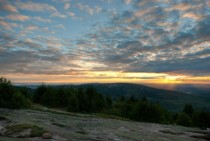 Sunset from the top of Cadillac Mountain in Acadia National Park -