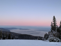 Sunset glow at Le Massif Qubec Canada