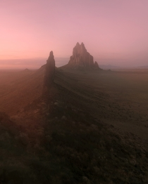 Sunset Glow at Shiprock New Mexico  IG andrewcollinsm
