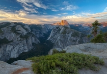 Sunset Half Dome Yosemite