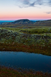 Sunset Hiking Above the Ion Luxury Hotel in Iceland