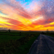 Sunset I stopped to photograph on the way home from work in Winster Derbyshire UK
