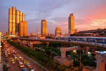 Sunset in Bangkok Thailand