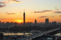 Sunset in Cairo January