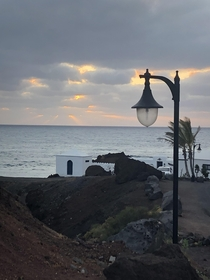 Sunset in El Golfo The Canary Islands