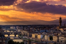 Sunset in Florence Italy