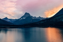 Sunset in Glacier National Park