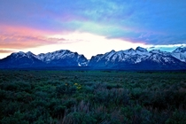 Sunset in Grand Teton State Park Wyoming
