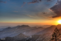 Sunset in HDR - Sequoia National Park USA x