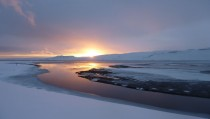 Sunset in Icelands Westfjords