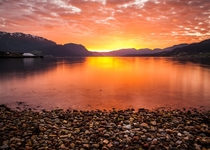 Sunset in Nordfjord Norway