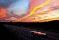 Sunset in Oakville Ontario Crazy colors in the sky