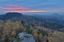 Sunset in Saxon Switzerland Germany